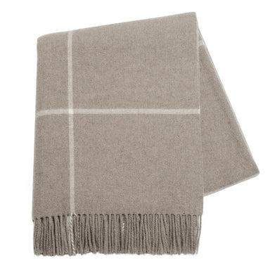 Grey Plaid Cashmere Throw by Lands Downunder