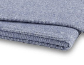 Chambray Italian Herringbone Throw by Lands Downunder - Fig Linens and Home
