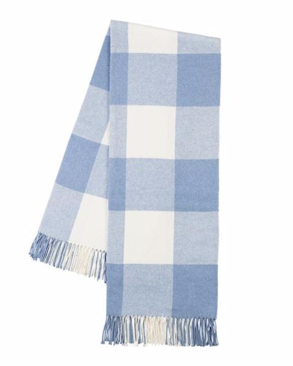 Buffalo Check Throw in Denim Blue - Lands Downunder