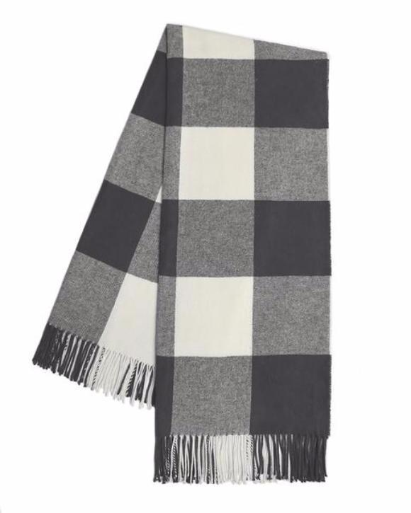 Buffalo Check Throw in Charcoal