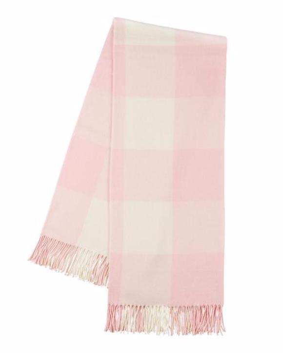 Buffalo Check Throw in Rose Pink