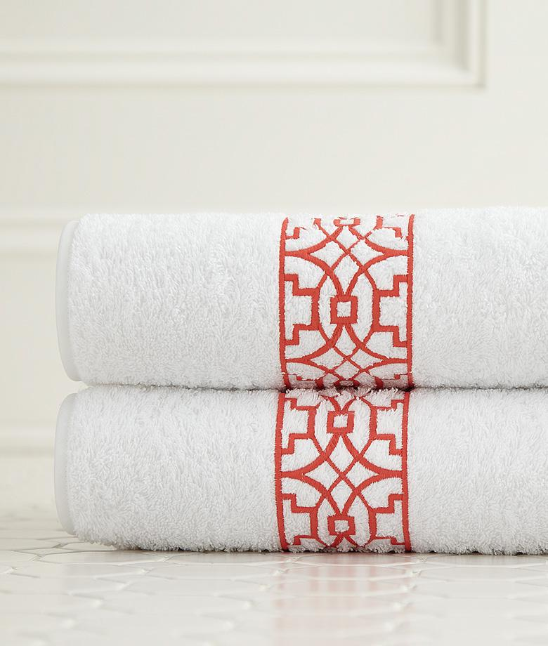 Ming Embroidered Bath Towels by Legacy Home | Fig Linens