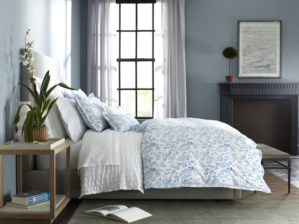 Matouk Alexandra Sky Bedding at Fig Linens