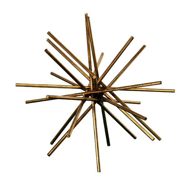Gold Urchin in Medium | Shop Home Decor at Fig Linens and Home