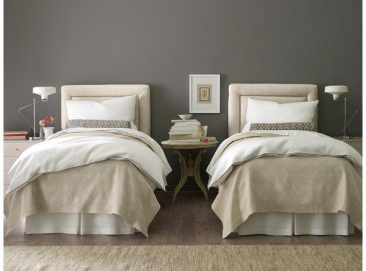 Fig Linens - Vienna Tailored Matelassé Coverlets and Shams by Peacock Alley