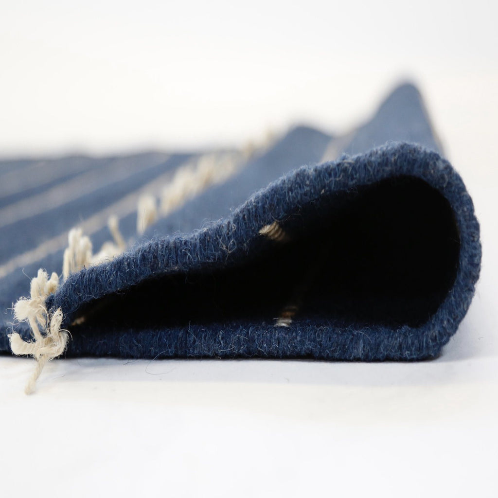 Pom Pom at Home - Handwoven area rug - Warby navy rug - fig linens and home