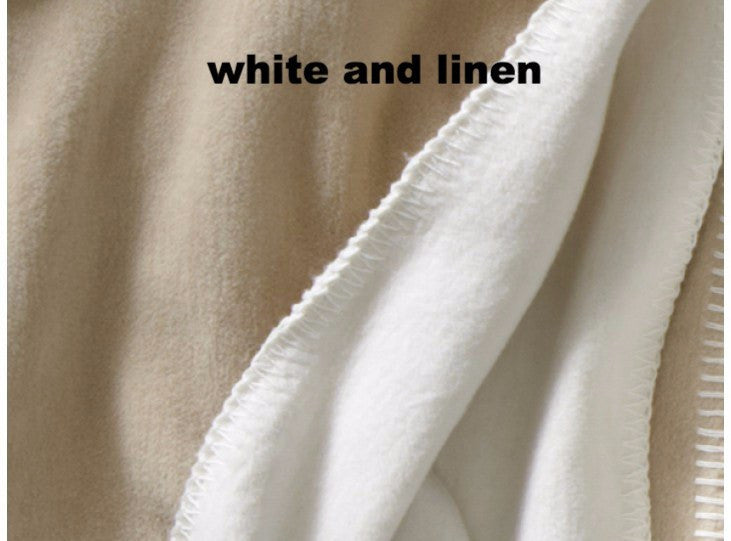 Alta Reversible Blanket in White & Linen