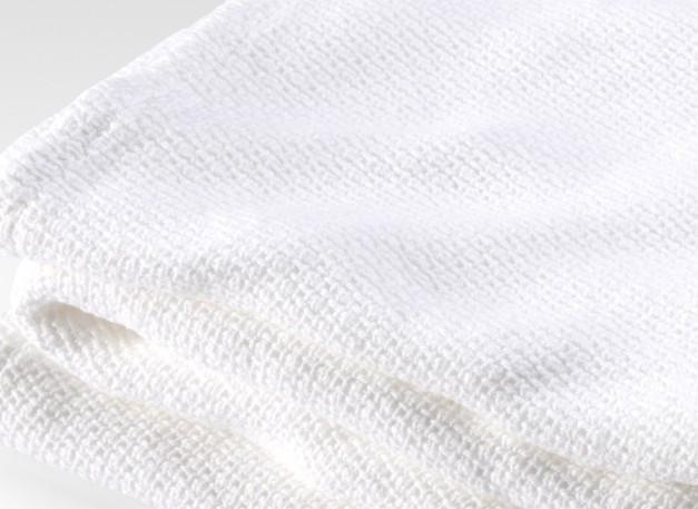 Fig Linens - Brahms Mount - Edgecomb White Cotton Blanket