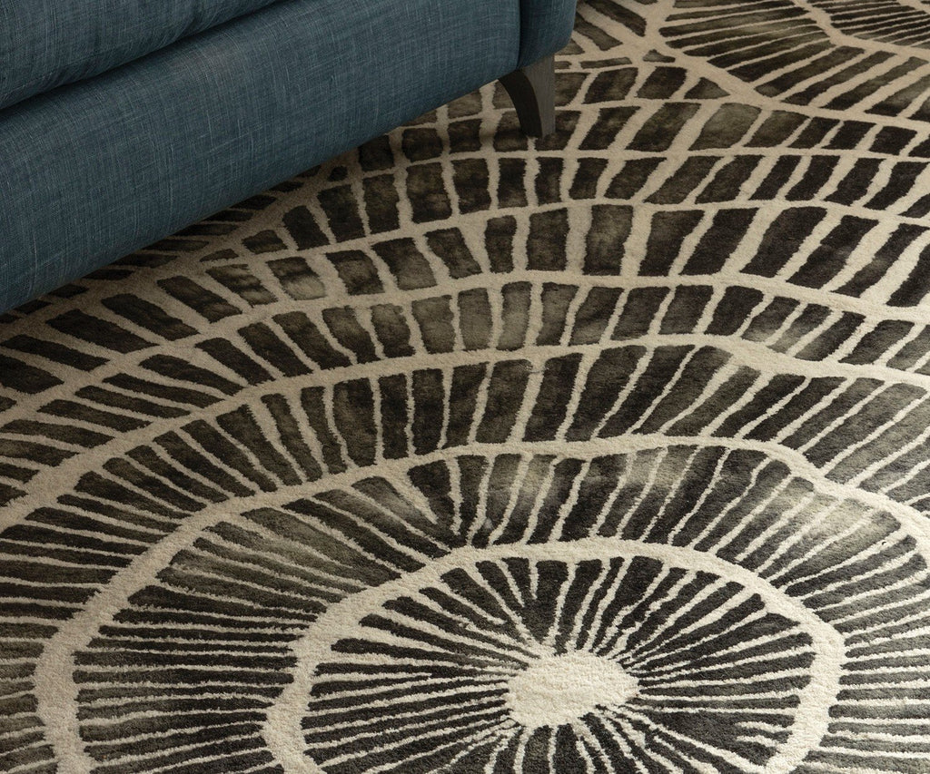 Rug - Detail of Piedra Charcoal Wool Rugs | William Yeoward at Fig Linens