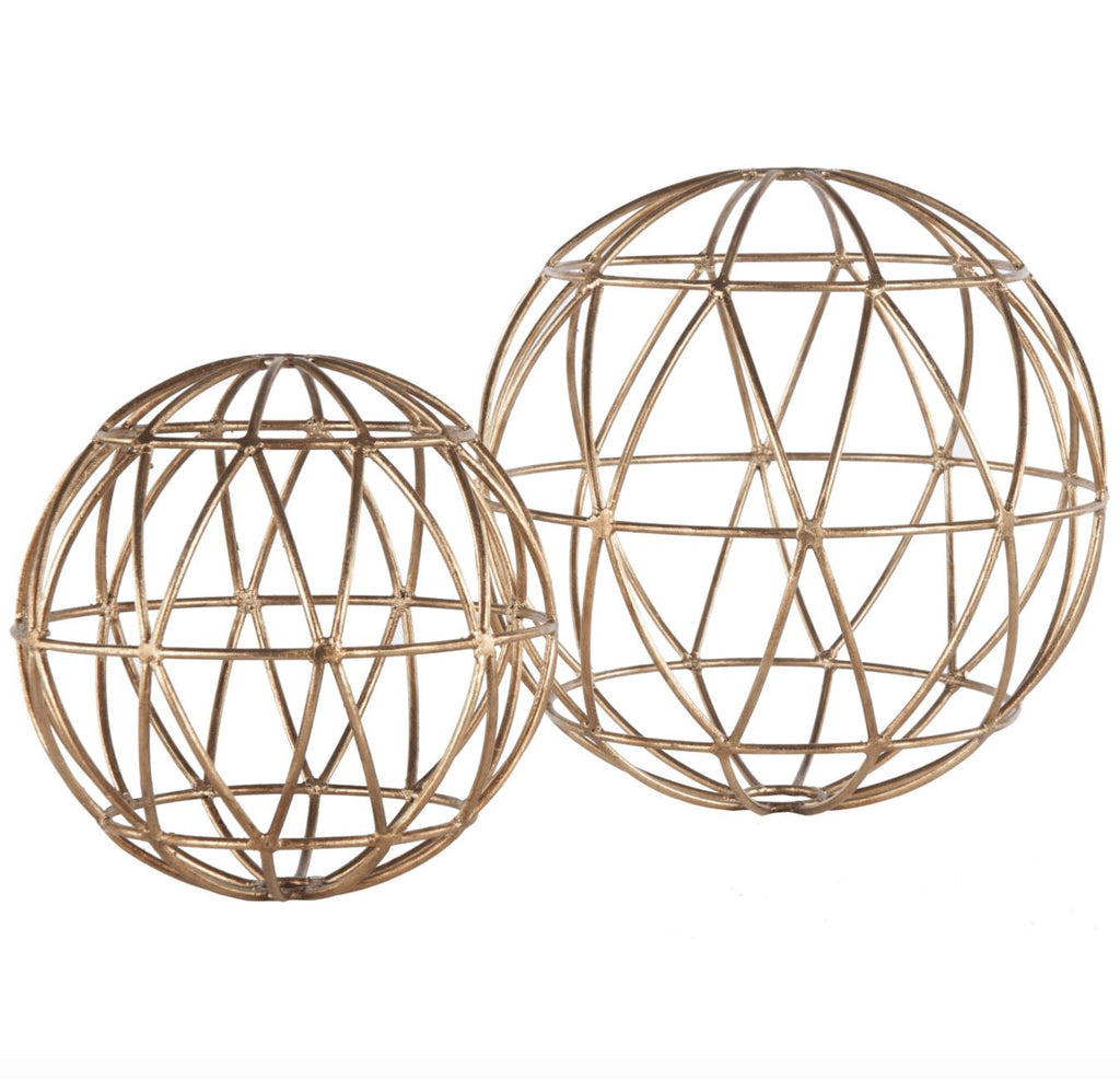 Gold Atlas Geometric Spheres