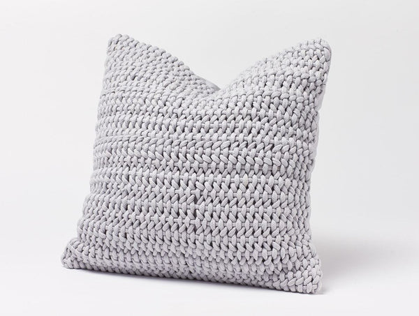 Woven Rope Pewter Pillow by Coyuchi | Fig Linens