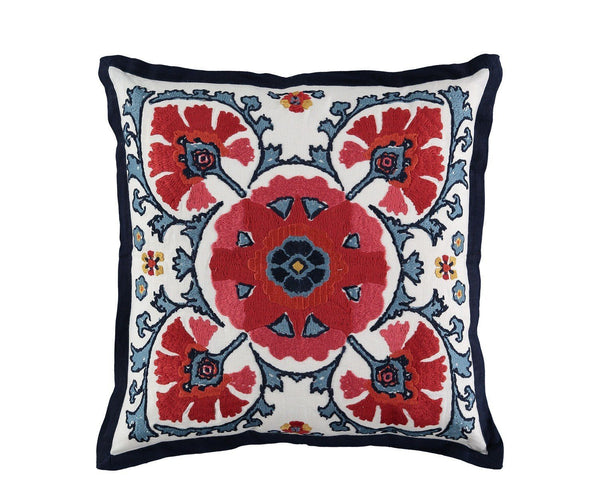 William Yeoward Alexi Rouge Decorative Pillow | Red Suzani Pillow