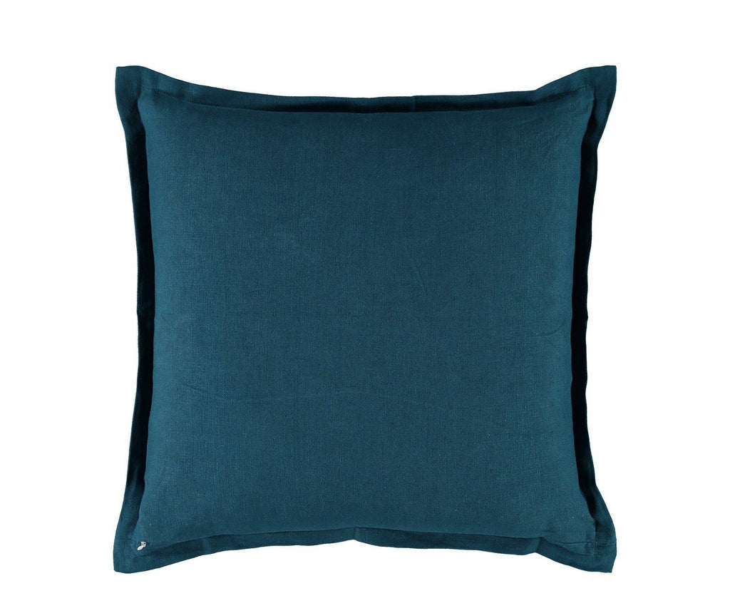 William Yeoward Alexi Peacock Decorative Pillow with Solid Reverse