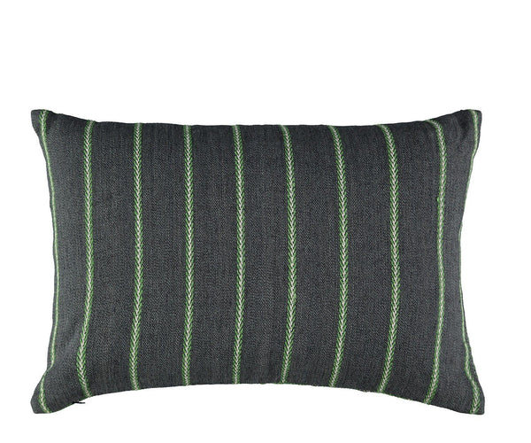 William Yeoward Alicia Grass Decorative Pillow Reverse to Stripes | Fig Linens