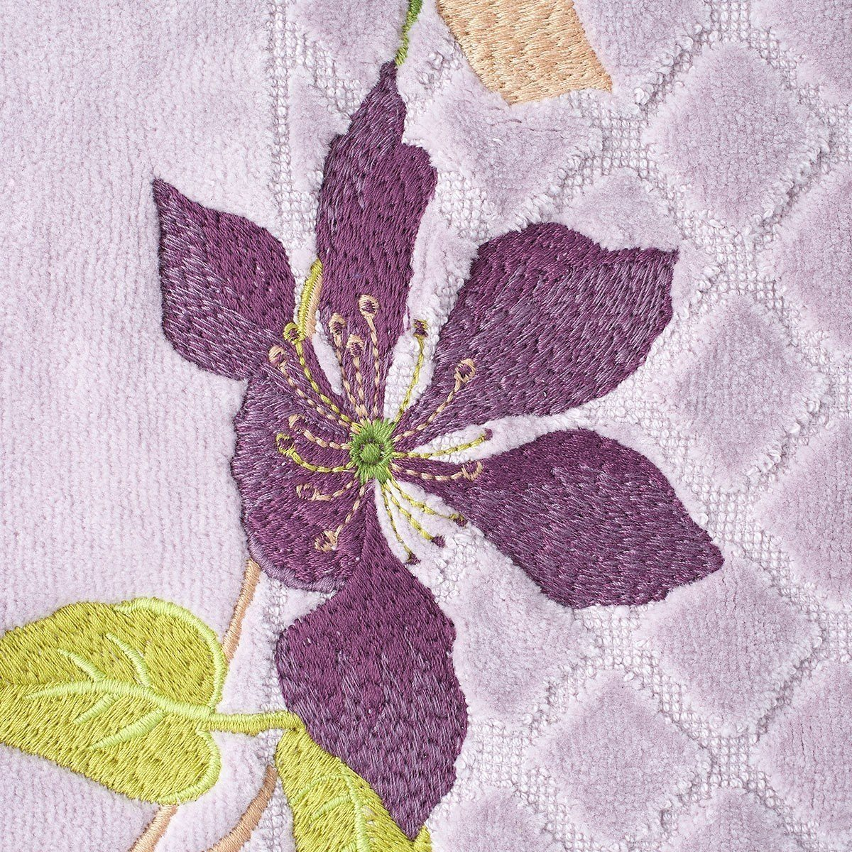 Yves Delorme Clematis Tub Mat Detail - Fig Linens