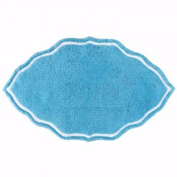 Peacock Blue Signature Bath Rug by John Robshaw