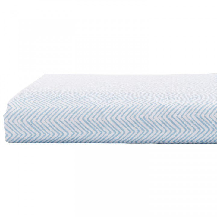 chevron-light indigo-john robshaw-fitted sheet