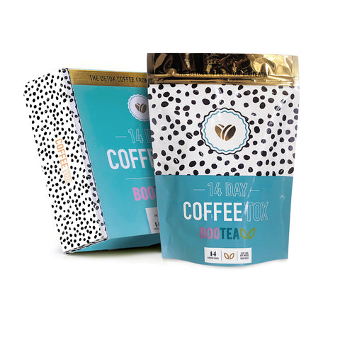 detox coffee box and pouch