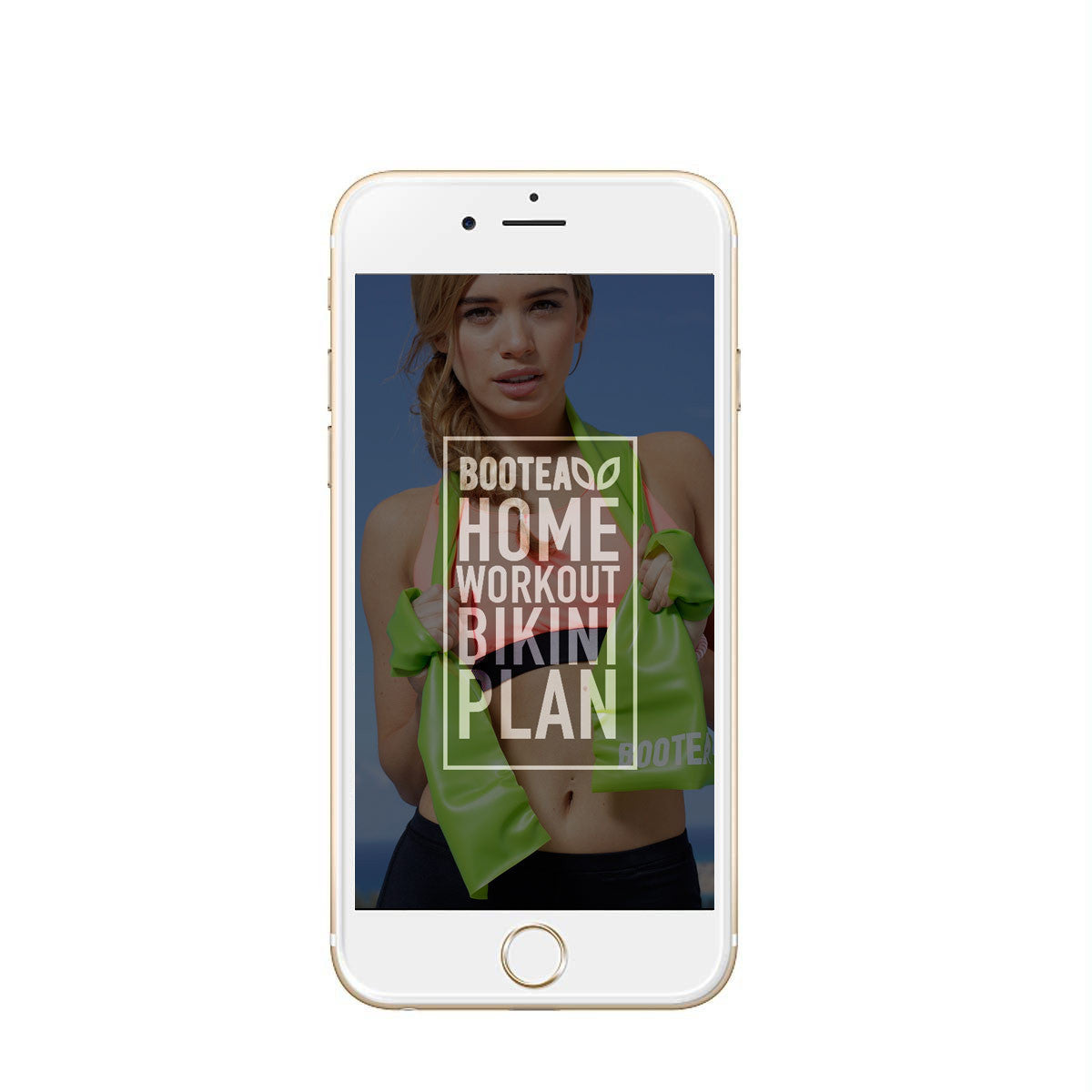 fitness guide on smartphone