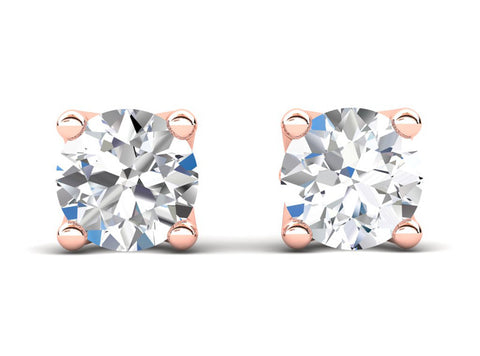 Celebration Solitaire Diamond Rose Stud