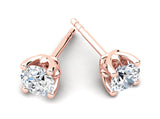 Childrens jewelry for little girls and baby Celebration earrings 14k solid rose gold stud
