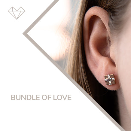 bundle of love diamond earrings for girls jewelry