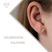 Celebration diamond and rose gold stud earrings for girls lever jewelry
