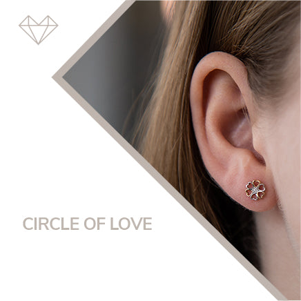 circle of love diamond earrings for girls jewelry