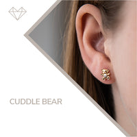 Cuddle Bear diamond earrings for girls jewelry