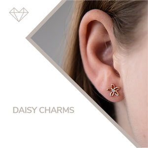 daisy charms diamond earrings for girls jewelry