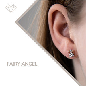 fairy angel diamond earrings for girls jewelry