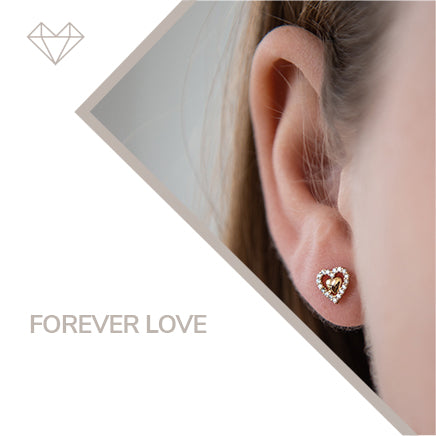 forever love diamond earrings for girls jewelry