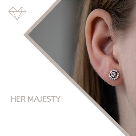 Her Majesty diamond earrings for girls jewelry