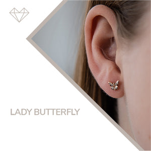 LADY BUTTERFLY diamond earrings for girls jewelry