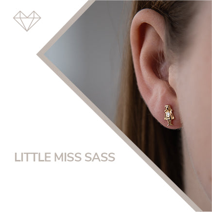 Little Miss Sass diamond earrings for girls jewelry