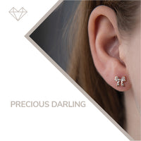 Precious Darling diamond earrings for girls jewelry