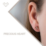 Precious Heart diamond earrings for girls jewelry