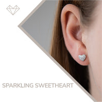 Sparkling Sweetheart diamond earrings for girls jewelry