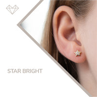 Star Bright diamond earrings for girls jewelry