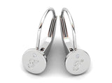 Childrens jewelry for little girls and baby Signature Girl personalized earrings 14k solid white gold lever