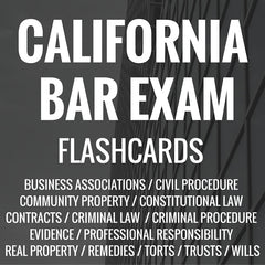 California Bar Exam Flashcards