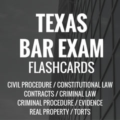 Texas Bar Exam Flashcards