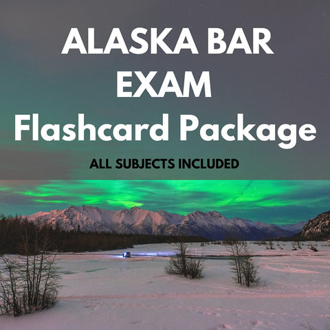 Alaska Bar Exam Flashcard Package
