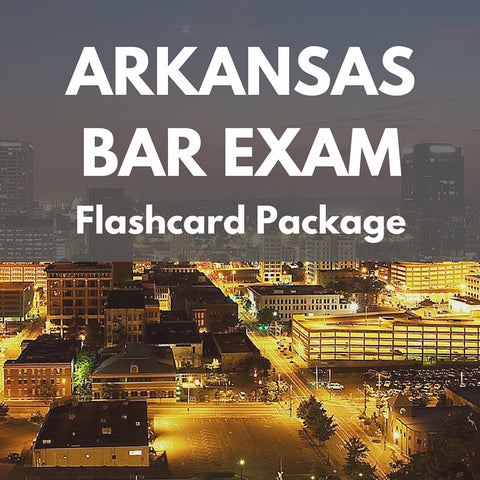 Arkansas Bar Exam Flashcard Package