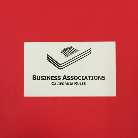 Business Associations (CA) Printed Flashcards