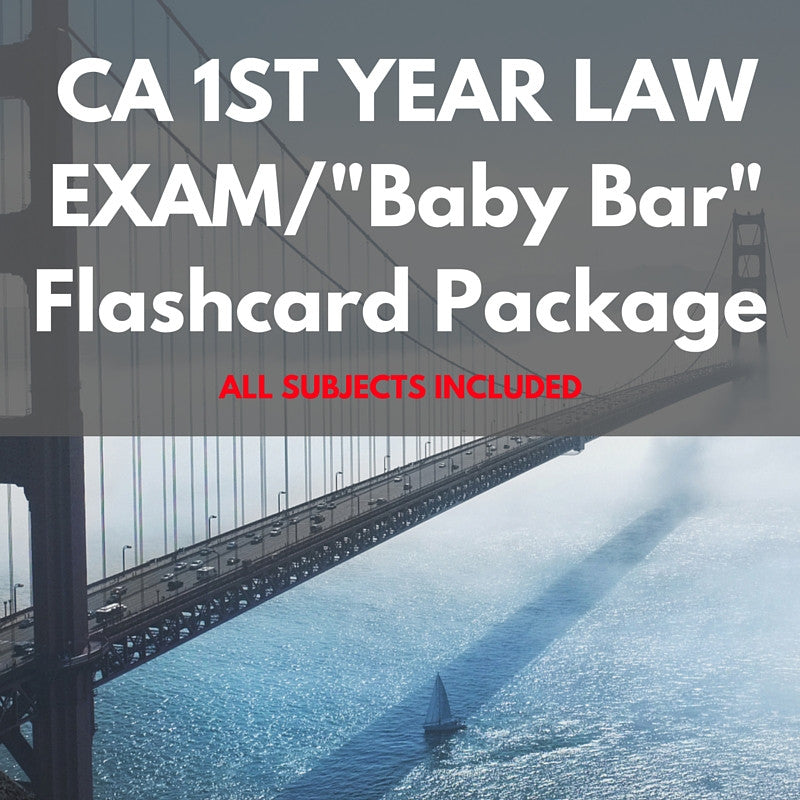 California First Year Law Exam Flashcard Package