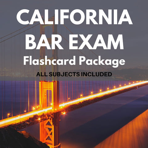 California Bar Exam Flashcard Package