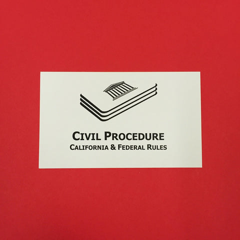 Civil Procedure (CA) Printed Flashcards