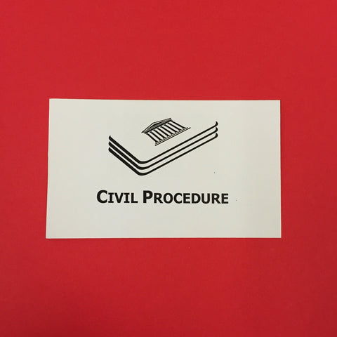 Civil Procedure Printed Flashcards