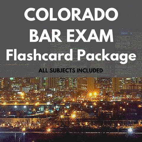 Colorado Bar Exam Flashcard Package
